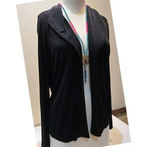 Chico's Black Open Front Cardigan